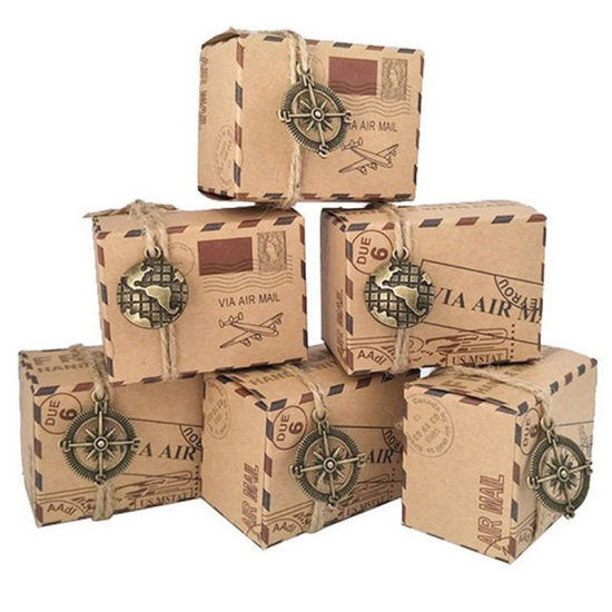 Custom Printed Design Vintage Luxury Mail Paper Box
