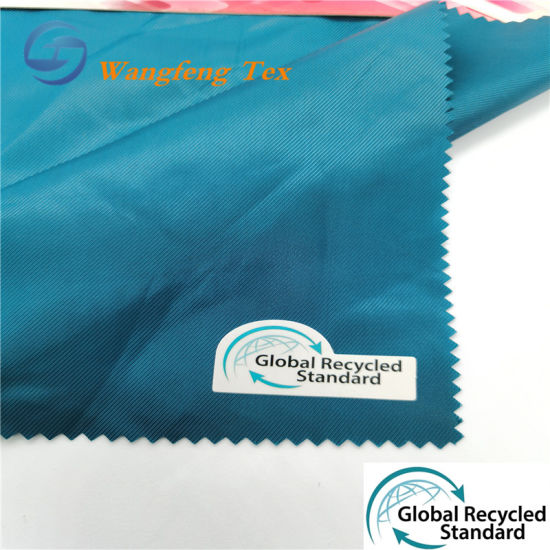 100% RPET Poly Twill Lining Fabric for Garments pictures & photos