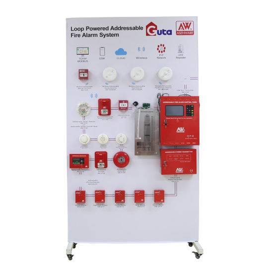 Two Wire Touch Screen Addressable Fire Alarm Control Panel