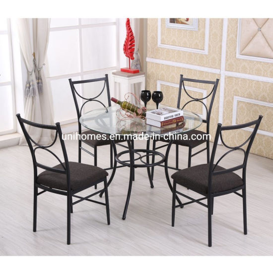 Stylish 5 Piece Glass Top Dining Table Set China Round Glass Dining Table Round Dining Table Made In China Com