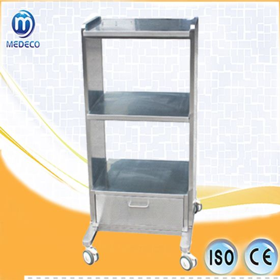 Veterinary Hospital Devices Stainless Steel Multi-Layer Equipment Cart Mef04