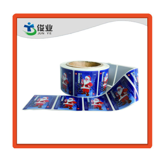 Fashion Christmas Cheap Adhesive Sticker/Logo Customized Printing Label