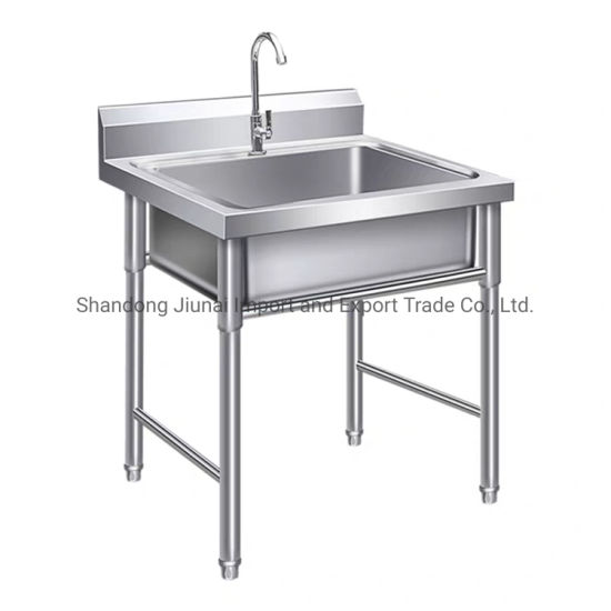 Commercial Polished Single Bowl Stainless Steel 304 Kitchenware Kitchen Sink
