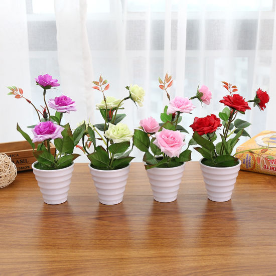 Chinese rose style artificial flower simulation silk flower with pot chinese rose style artificial flower simulation silk flower with pot mightylinksfo
