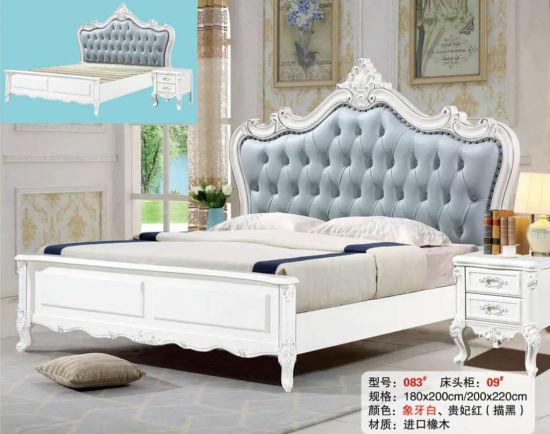 European Style Modern Simple Bedroom Furniture Wooden Bed