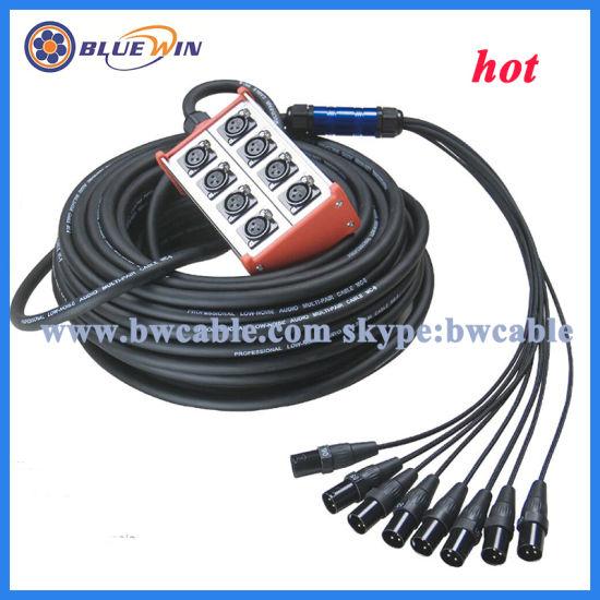 16 Channel Multicore Cable Audio XLR Cable 24X8 Channle Cable Box 24channel  32 Channel