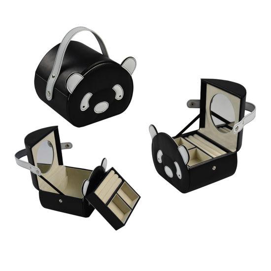 New Design Fashion Panda' Face PU Leather Cosmetic Box (8764)