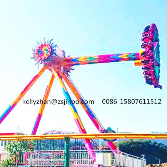 Giant Spinning Swing Pendulum Aviator Ride Frisbee in Star City  Adventureland in Amusement Park Theme Ideas