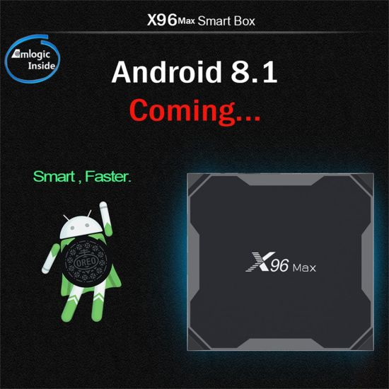 China New Arrival X96 Max Android81 Tv Box Amlogic S905x2 4gb Ram