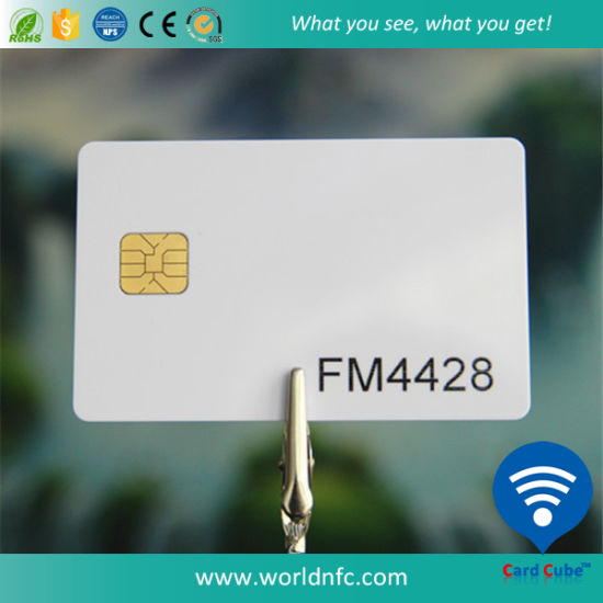 Blank FM4428 Contact IC Plastic Card pictures & photos