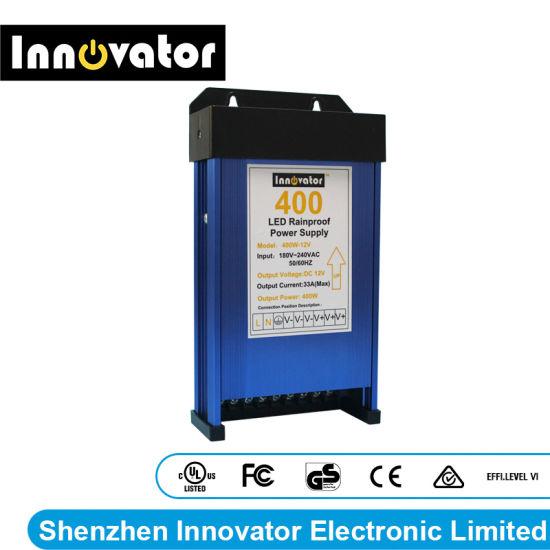 DC12V 400W Rainproof LED Power Supply for Outdoor LED Lighting