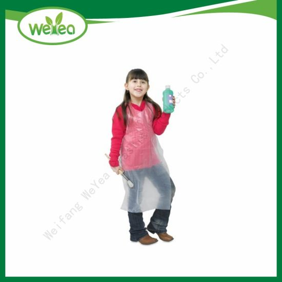 Top Selling Disposable PE Plastic Apron for Children pictures & photos