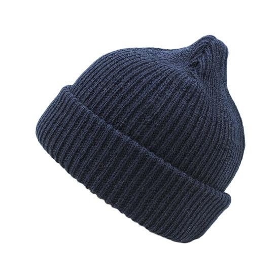 aa20e18621d China Winter Warm Fashion Custom Logo Plain Knitted Beanie Hat ...