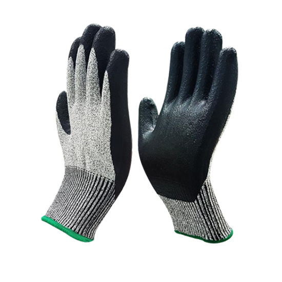 Level 5 Hppe Fiber Anti-Cutting Gloves for Hand Protection