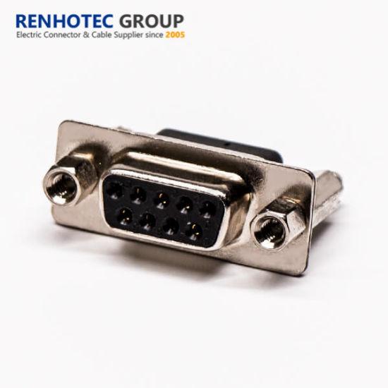 High Density Female D Sub Connector 9pin DEC Type