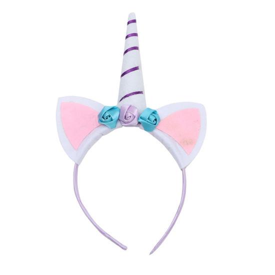 Hot Sale Kids Birthday Party Hair Decoration Flower Unicorn Headwear