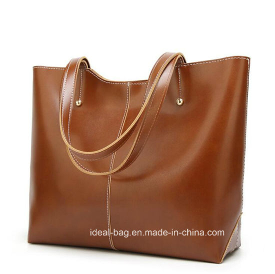 687f815b8c3b China New Arrival Ladies PU Tote Big Hand Bag