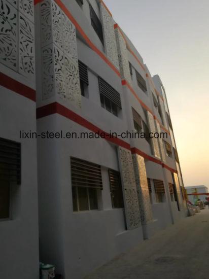 China Qatar Galvanized Steel Structure Frame Fabrication