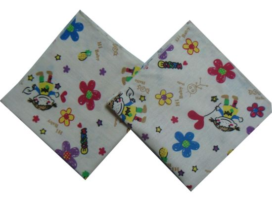 Wholesale Printed Square Baby Washcloths