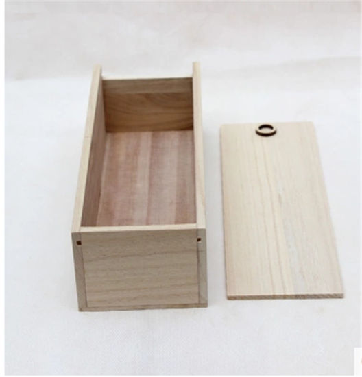 Top Grade Handmade Wooden Gift Box with Sliding Lid pictures & photos