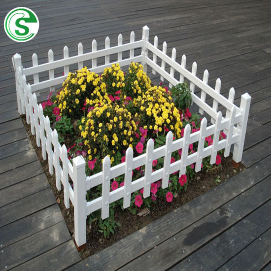 Guangzhou Wholesale Cheap White PVC Vinyl Picket Fence Factory
