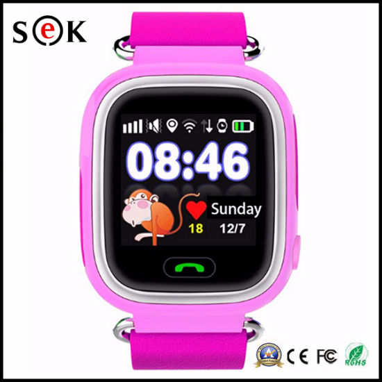 a10831b76 2017 Cheap Q90 Smart Watch Phone with Touch Screen GPS Smartwatch for Kids  pictures   photos
