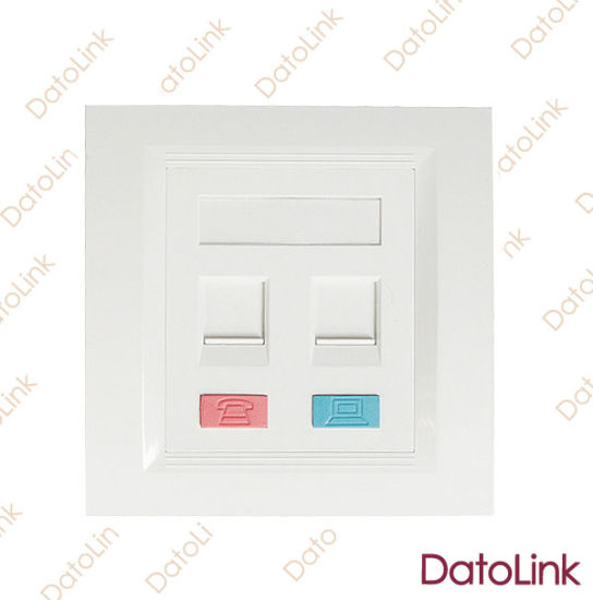 Network Face Plate 86 Type With2 Ports