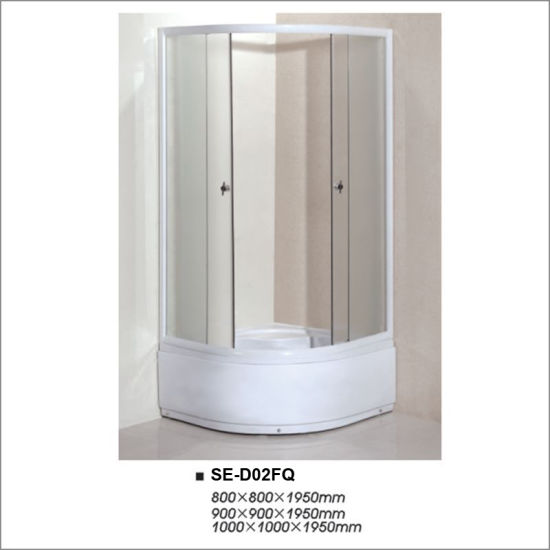 Wove Glass Bathroom Simple Shower Room with High Tray