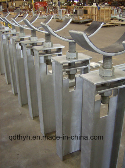 High Quality Large Size Heavy Duty Steel Fabricated Pipe Support, Pipe Clamp and Pipe Saddle Products