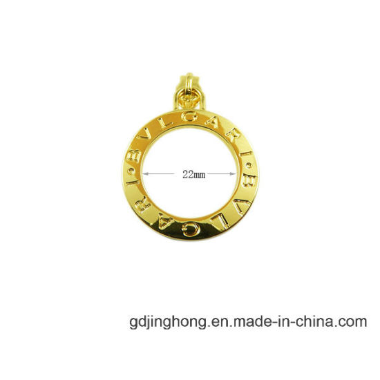 Ring Shape Zipper Puller Gold Plated Zip Puller pictures & photos