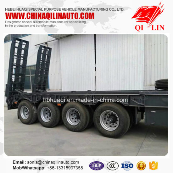 4 Axle Low Loader Semi Trailer pictures & photos