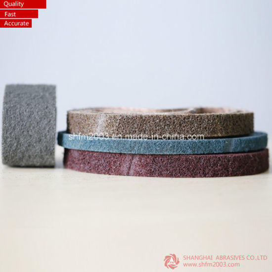 100*3000mm, Grey Color Surface Conditioning Woven Belt pictures & photos