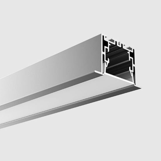Alu 55 X 35mm Recessed Aluminum Extrusion Channel Linear Light LED Profiles with Diffuser for Housing LED Tape