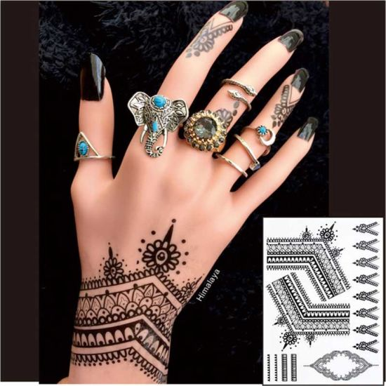 China Most Popular Black Henna Tattoos Temporary China Nail Art