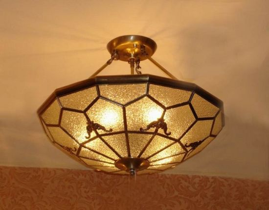 Copper Ceiling Lamp with Glass Decorative 19007 Ceiling Lighting pictures & photos