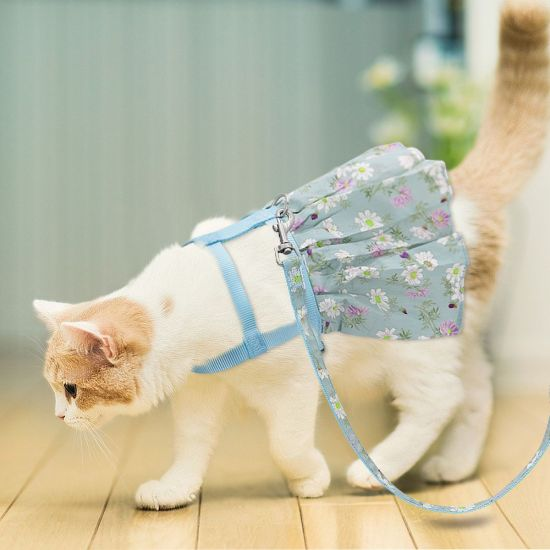China Small Puppy Dog Cat Clothes Harness Leash Adjustable Floral Printed  Pet Harness Vest Dress for Small Medium Dogs Cats Chihuahua - China Pet  Clothes, Dog Harness
