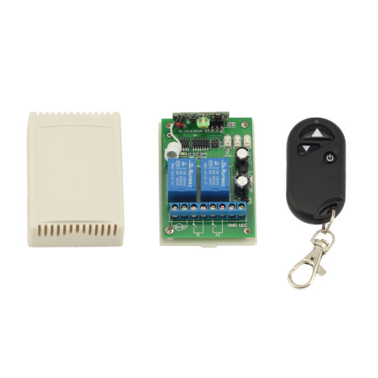 Motor Forward and Reverse 12V/24V 2-Channel Latched Learning Code Wireless Remote Control Switch pictures & photos
