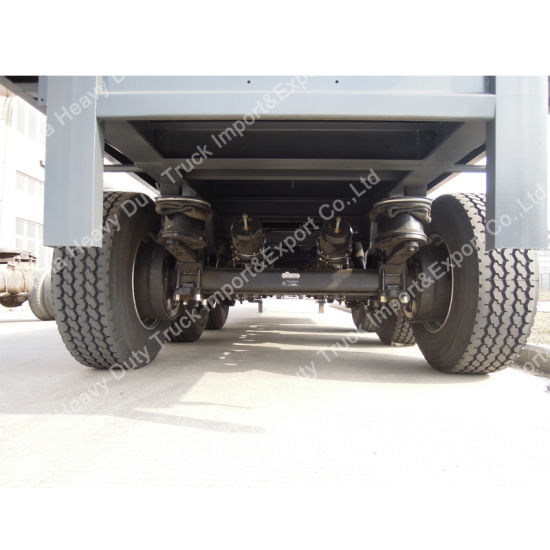 Air Suspension Trailer Manufacturers Sell 40 Feet Flatbed Container Semi Trailer pictures & photos