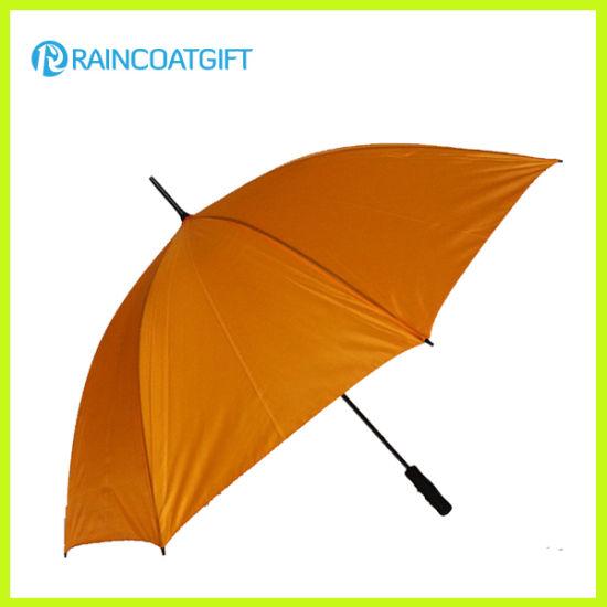 30inch Auto Open Straight Golf Umbrella with Fiberglass Handle