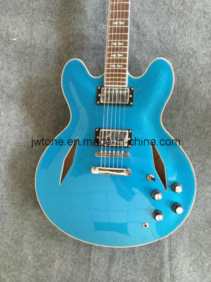 Hollow Body Diamond Inlay Quality Electric Guitar pictures & photos