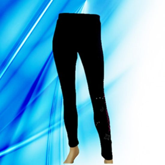 95% Cotton 5% Spandex Lady's Discharge Print Legging