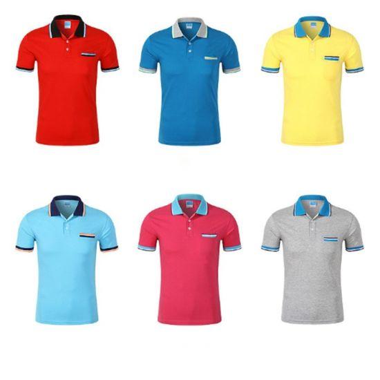 2019 Most Popular Custom Cotton OEM Printing Polo Shirt for Men Collar T-Shirt Male