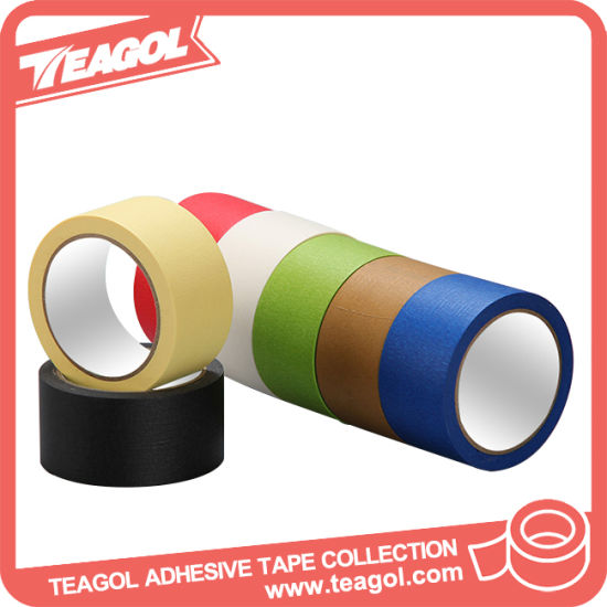 Colored Natural Crepe Paper Adhesive Masking Paper Tape (CMPT-001) pictures & photos