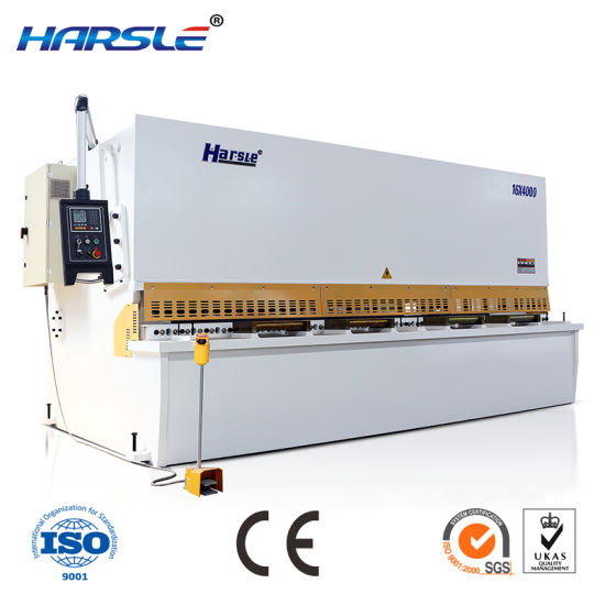Hydraulic Swing Beam Shearing Guillotine Machine Cutting Matchine pictures & photos
