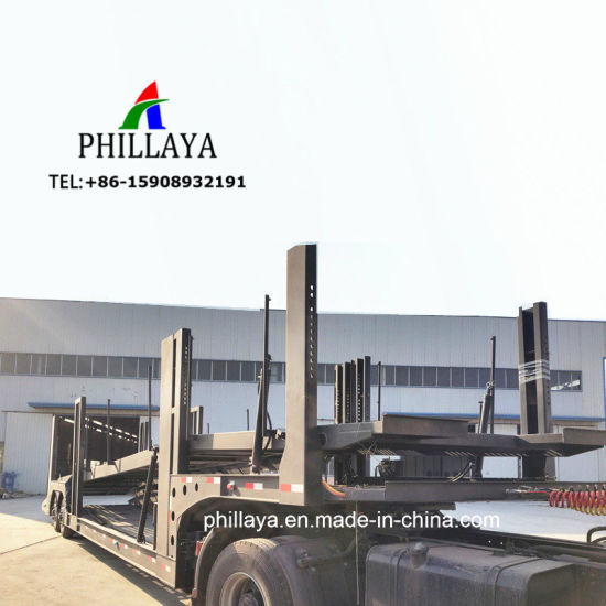 Vehicle Transport Hydraulic Truck Semi Trailer Car Carrier for Sale