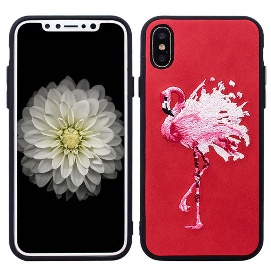 Paste Skin Embroidery Phone Case for iPhone X pictures & photos