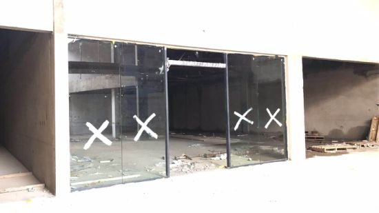 High Quality Double Glazing Aluminum Sound Proof Aluminum Storefront Door pictures & photos