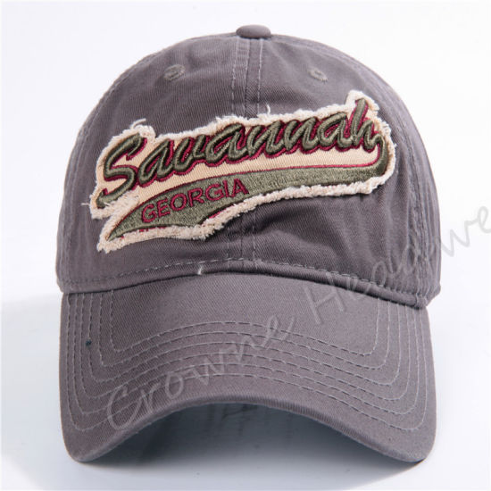 Wholesale High Quality Cotton Embroidery Patch Custom Sport Baseball Cap pictures & photos