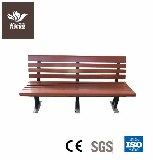 Public WPC Outdoor / Garden Furniture Waiting Bench Chair pictures & photos