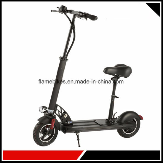 Alloy Electric Kick Scooter with Front Suspension pictures & photos